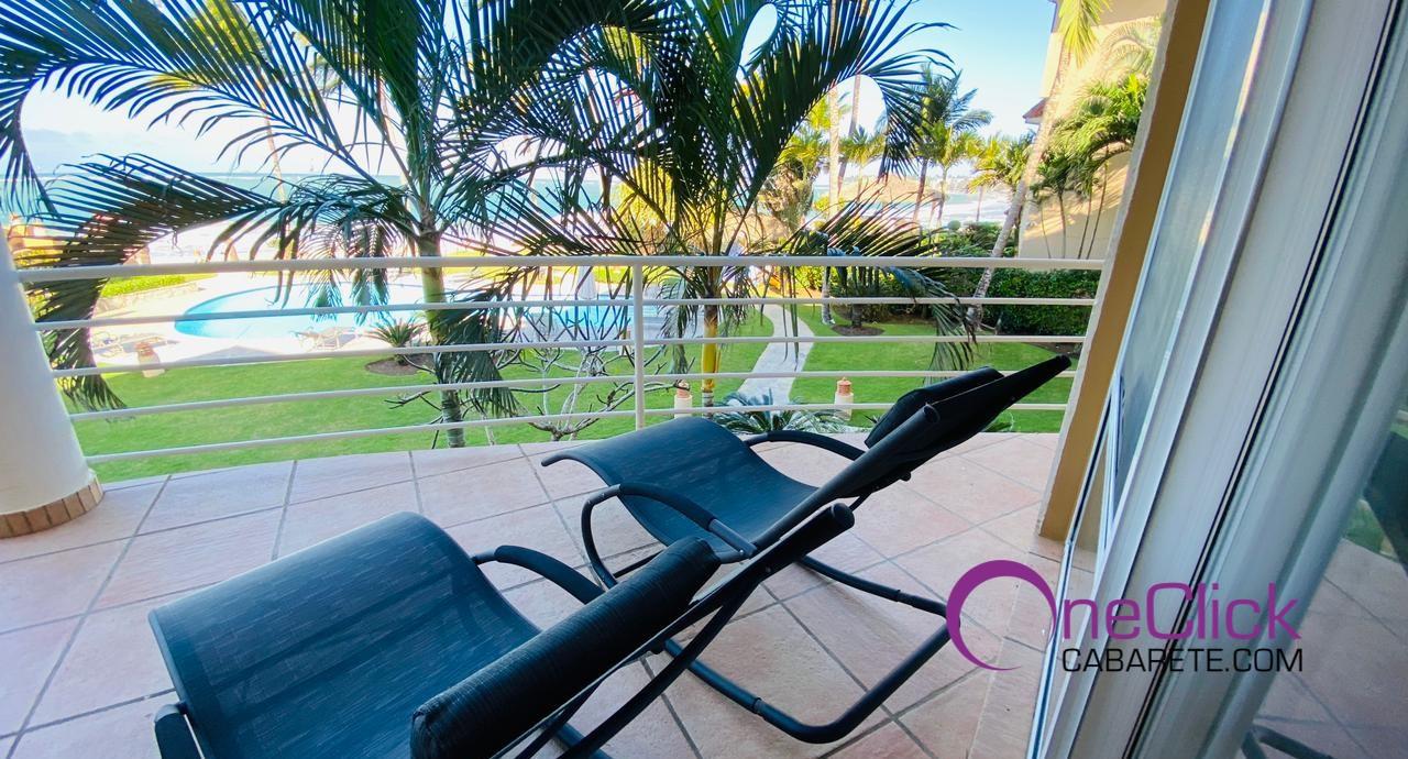 Ocean Front 3-bedroom Apartment in Cabarete Center For Rent