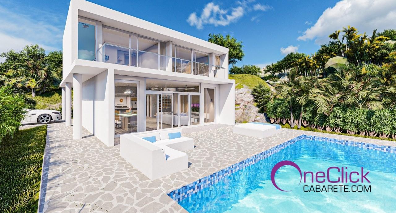 Unfurnished Charming Modern 2-bedroom Villa in Sosúa For Sale